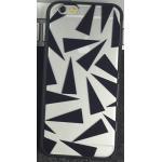เคสฝาหลังใสอะคริลิค ลายสามเหลี่ยม ขอบยาง - iPhone6+
