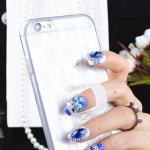 เคสลาย สีขาว (เคสยาง) - iPhone5
