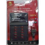 Portable USB Charging Station 10 Ports ยี่ห้อ OKER