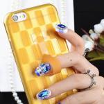 เคสลาย สีเหลือง (เคสยาง) - iPhone5