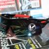 Cycling Sports Glasses uv400 กรอบสีดำ ขาขลิบแดง เลนส์เหลือบฟ้า