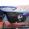 Cycling Sports Glasses uv400 กรอบสีฟ้า เลนส์ดำ