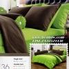 ชุดเครื่องนอน ผ้าปูที่นอน แสตมป์ สีพื้น เขียวอ่อน คอลเลคชั่นใหม่ รุ่นST-36