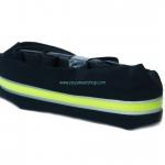 กระเป๋าคาดเอววิ่ง 1 ซิป สีเขียวสะท้อนแสง กระเป๋าเคลือบกันน้ำอย่างดี
