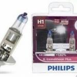 หลอดไฟอัพเกรด H1 Philips X-tream Vision 130%