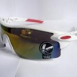 Cycling Sports Glasses uv400 กรอบสีขาว เลนส์ ปรอท