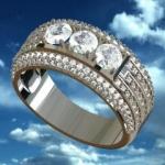 Ring B-Design (แบบแหวนเม็ดกลางใหญ่กว่า 3 mm.)