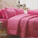 ชุดเครื่องนอน JESSICA Cotton 100% ซิลค์ ซายน์ สีฟลามิงโก้-Flamingo ชมพูหวาน