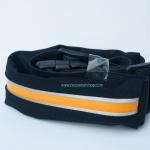 กระเป๋าคาดเอววิ่ง 1 ซิป สีส้ม กระเป๋าเคลือบกันน้ำอย่างดี