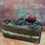 เทียนเค้กช็อกโกแลต ขนาด 8x11.5x6 cm