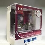 หลอดไฟอัพเกรด H4 Philips X-tream Vision 130%