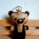 พวงกุญแจหมีหนัง