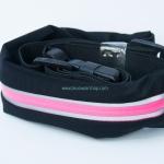 กระเป๋าคาดเอววิ่ง 1 ซิป สีชมพู กระเป๋าเคลือบกันน้ำอย่างดี