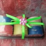 ชุดเทียนแยมโรล 6 ชิ้น หลากสี ใส่กล่องพลาสติกใส