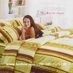 ชุดเครื่องนอน ชุดผ้าปูที่นอน ทิวลิป-tulip ลายคลาสสิค รุ่น 708