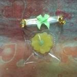 เทียนหอมวุ้นแฟนซี ดอกไม้เหลือง เส้นผ่านศูนย์กลาง 3 cm.