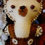 พวงกุญแจหมีผ้า
