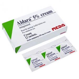 ยารักษาหูดหงอนไก่ Aldara Cream 5% (1 กล่อง 12 ซอง)