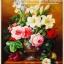 แจกันดอกกุหลาบ ภาพติดเพชรDiamond painting thumbnail 1