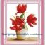 แจกันดอกไม้ คลอสติสพิมพ์ลาย thumbnail 1