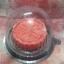 เทียนขนมไหว้พนะจันทร์สีแดงอ่อน ขนาดเส้นผ่านศูนย์กลาง 6 cm. สูง 2 cm. thumbnail 1
