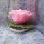 เทียนหอมดอกกุหลาบสีชมพูพร้อมใบ thumbnail 4
