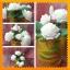 เทียนช่อดอกมะลิในแก้วเหลืองสวย 6 ดอก thumbnail 5