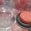 เทียนขนมไหว้พนะจันทร์สีแดงอ่อน ขนาดเส้นผ่านศูนย์กลาง 6 cm. สูง 2 cm. thumbnail 3