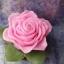 เทียนหอมดอกกุหลาบสีชมพูพร้อมใบ thumbnail 2