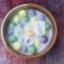 เทียนบัวลอยไข่หวานในถ้วยเซรามิกทึบ thumbnail 1