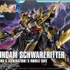 hgBF 1/144 Gundam Schwarzs Ritter (Gundam Model Kits) 2000 Yen