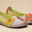 SK13 รองเท้าหนังนิ่มตกแต่งดอกไม้