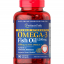 Puritan's Pride Double Strength Omega-3 Fish Oil 1200 mg/600 mg Omega-3 / 90 Softgels thumbnail 1