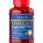 Puritan's Pride Double Strength Omega-3 Fish Oil 1200 mg/600 mg Omega-3 / 90 Softgels